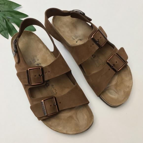 438f30e780c Betula Shoes - Betula Birkenstock Leather Double Buckle Sandals